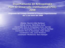 PDI 2008 Antropología  - Facultad de Ciencias Sociales