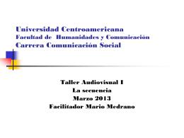 la secuencia 1 - Universidad Centroamericana