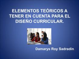 damarys Diseño curricular