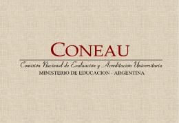 coneau - ministerio de educación argentina