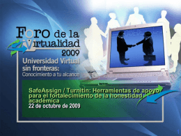 SafeAssign / Turnitin - Tecnológico de Monterrey