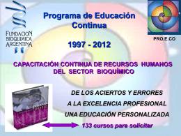 evolucion-proeco - Fundación Bioquímica Argentina