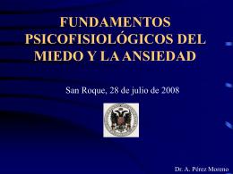 fundamentos psicofisiológicos del miedo y la ansiedad