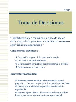 11. Esquema de la Toma de Decisiones.