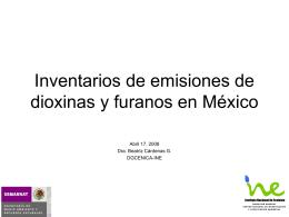 Experiencias en México sobre inventarios de dioxinas y furanos