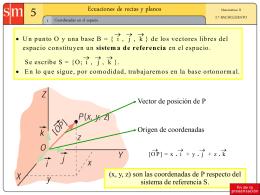 Ecuación de la recta y del plano en el espacio