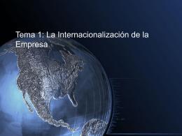Internacionalización de la empresa