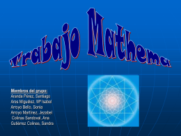 TRABAJO MATHEMA - matematicasysudidactica0809