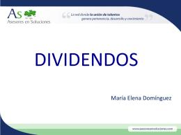 Dividendos Distribuidos - As, Asesores en Soluciones