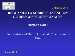 reglamento sobre prevencion de riesgos profesionales - AURA-O