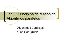 Principios de diseño de Algoritmos paralelos