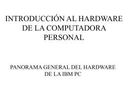 introducción al hardware de la computadora personal