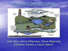 El agua como recurso.