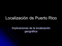 Localizacion de Puerto Rico