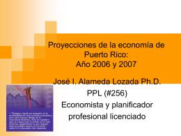 Proyecciones de la economía de Puerto Rico