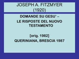 J. Fitzmyer, Domande su Gesù (power point)