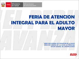 feria de atencion integral para el adulto mayor