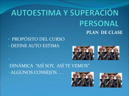 AUTOESTIMA Y SUPERACIÓN PERSONAL CURSO