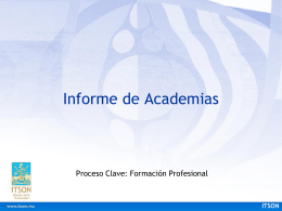 Descripción general del Informe de Academias.