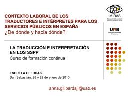 Contexto laboral de los traductores e intérpretes para los servicios