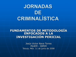 JORNADAS DE CRIMINALÍSTICA