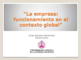 """""""La empresa: funcionamiento en el contexto global"""""""