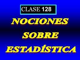 Clase 128: Nociones sobre Estadística