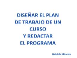 segunda habilidad diseñar el plan de trabajo de un curso y redactar