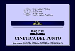 tema_15_cinetica_del_punto - Ingeniería Mecánica Aplicada y