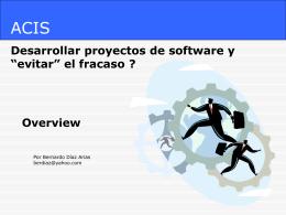Como desarrollar proyectos de software y evitar el fracaso 1.0