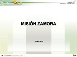 Resultados de la Misión Zamora. Junio 2008. Venezuela