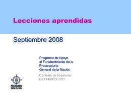 Misión BID -Febrero 2005-