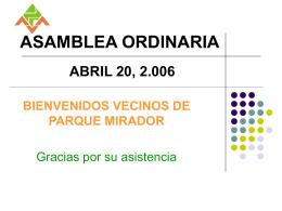Informe final - Abril 20, 2006