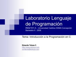 Laboratorio Lenguaje de Programación