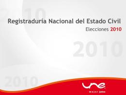 Elecciones Mayo 30 de 2010