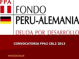 Presentacion Convoca.. - Fondo Contravalor Peruano Alemán