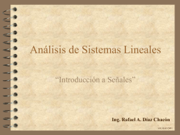 Introducción a Señales. Definición y clasificación.
