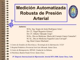 Medición y Estudio de señales de presión sanguínea