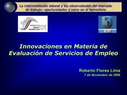 La intermediación laboral y los observatorios del mercado de