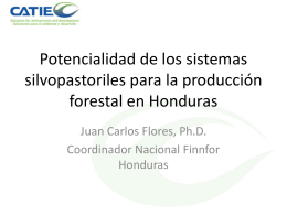 Potencialidad - Agenda Forestal Hondureña