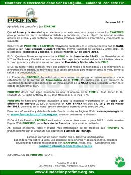 Febrero_2012 - Fundacion Pro-FIME