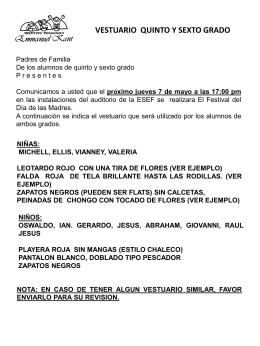 FESTIVAL DIA DE LAS MADRES-QUINTO