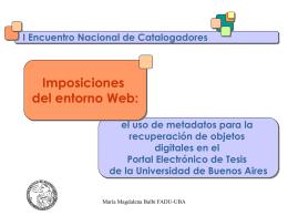 Presentación - Universidad de Buenos Aires