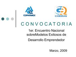 1er. Encuentro Nacional sobre Modelos Exitosos de