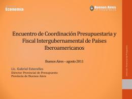 Encuentro de Coordinación Presupuestaria y Fiscal