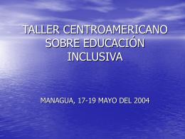 AL ENCUENTRO DE LA EDUCACIÓN INCLUSIVA. EL CASO DE