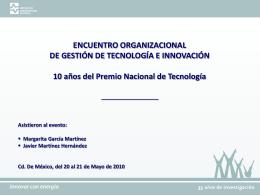 Encuentro organzacional PNT - Instituto de Investigaciones Eléctricas