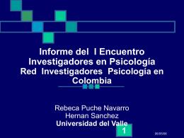 Informe del I Encuentro Investigadores en Psicología Red