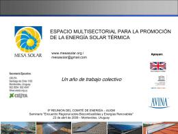 Energia solar termica - Instituto de Ingeniería Eléctrica