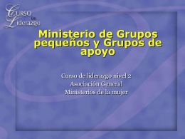 Small Group Ministries and Support Groups